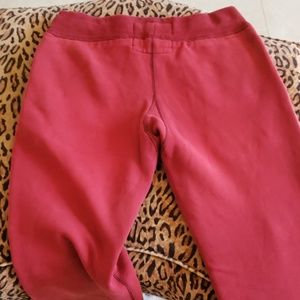 Abercrombie & Fitch Pants - ABERCROMBIE sweatpants S red
